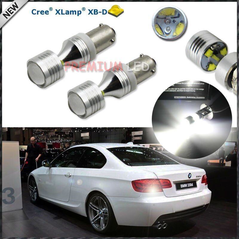 (2)  6000K Xenon White 6-CRE'E XB-D H21W LED Replacement Bulbs For For 2016-up BMW F30 3 Series Backup Reverse Lights