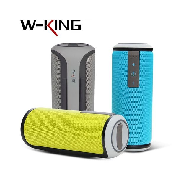W-King Super Bass Outdoor Portable Bluetooth Speaker 4.0 IPX4 Waterproof Wireless stereo sound box with DSP Noise Reduction Mic
