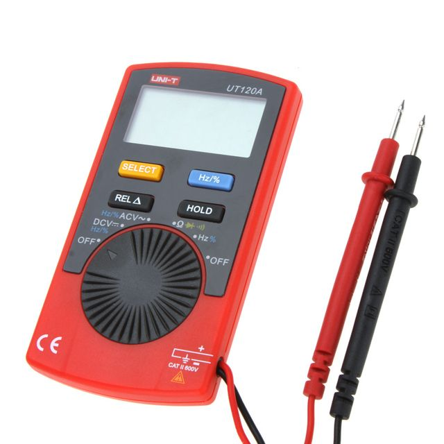 Digital UNI-T UT120A Pocket Size Type Auto-range DMM Multimeter DC / AC Voltage Resistance Frequency Tester Multitester