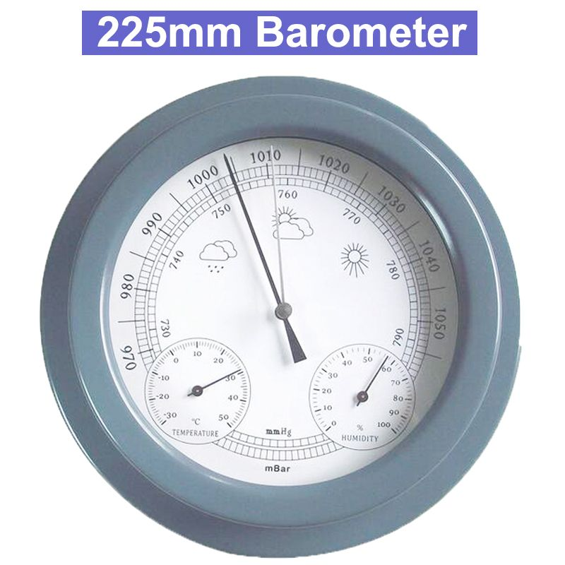 "9"" 225mm Weather Station Barometer Thermometer Hygrometer Wall Hanging Tester Tools Air weather Instrument Barometers"