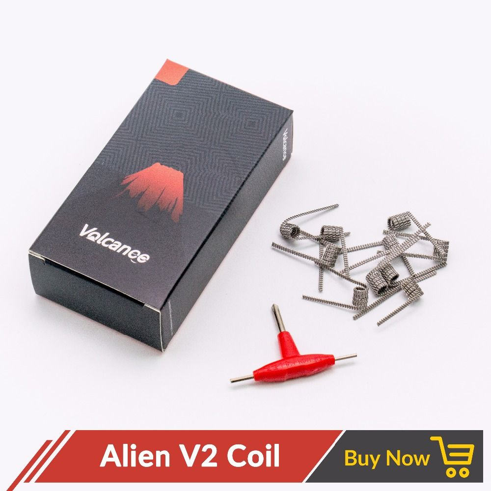 Volcanee premade Coil Wire Violence Coil Prebuilt Coil Alien V2 Tri-twisted Clapton Framed Clapton Spaced Clapton Coil