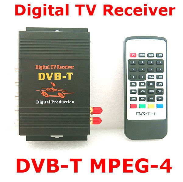 Car TV Tuner dab car radio mobile digital tv receiver DVB-T android box dvbt dual antenna for Singapore Colombia russia car dvd