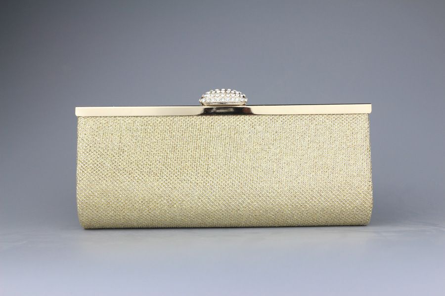 Women Rhinestone Silver Gold Clutch Evening Bag With Diamond Ladies Banquet Handbag Day Clutch For Party Bags With Chain