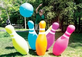 Hot sale inflatable bowling pin, inflatable human bowling ball 1.2m