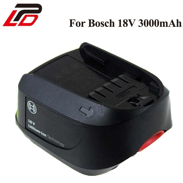 New 18V 3.0Ah Li-Ion Replacement Power Tool Battery for Bosch PSR 18 LI-2 2 607 336 039 2 607 336 208 Power 4All