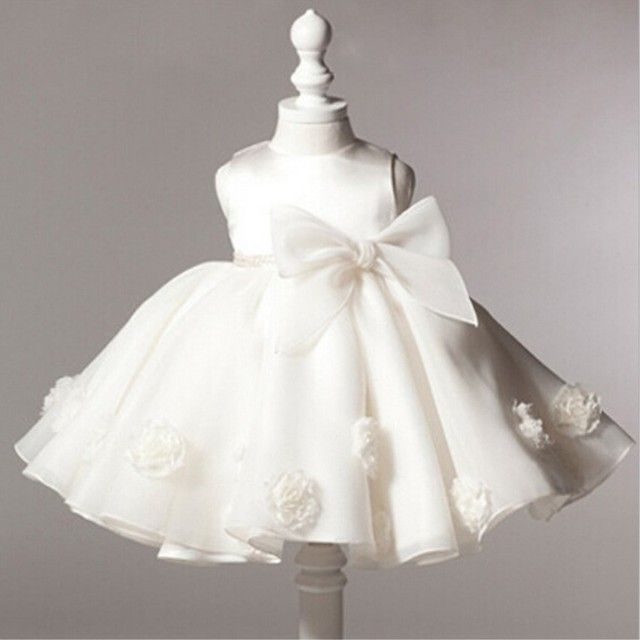 2017 baby girls dress girl's birthday party Wedding Dress Well rose lace princess dress baby christening gown girls bebe RQ-173