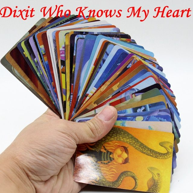 "Dixit  Board Game Travel Edition 2 Sets Cards Game ""WHO KNOWS MY HEART"" Education Game For Children With Free Shipping"