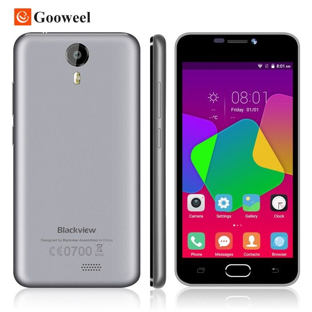 Blackview BV2000 4G LTE Mobile Phone MTK6735P Quad Core 64bit cell phone Android 5.0 5.0'' HD IPS 1GB RAM 8GB ROM smartphone