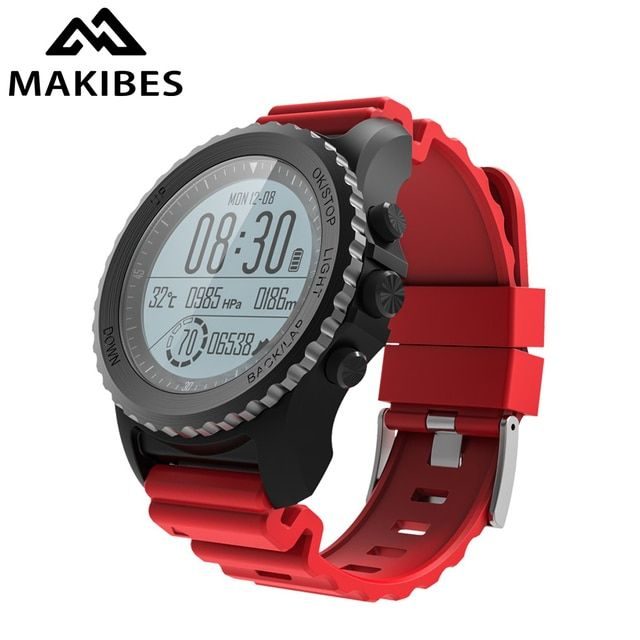 1 Year Warranty Makibes G07 GPS Men WristWatch Bluetooth Smart Watch IP68 Waterproof snorkeling within 5 meters Outdoor display