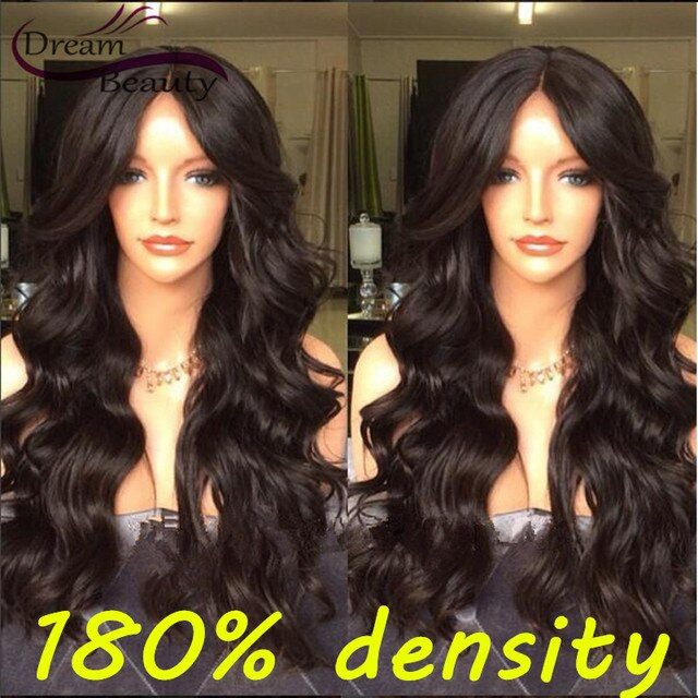 180% Unprocessed Brazilian Full Lace Human Hair Wigs Lace Front Wigs Wavy Virgin Hair Wigs With Baby Hair For Black Women
