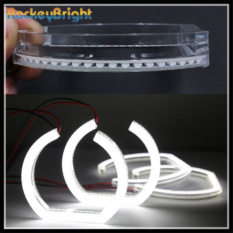 Rockeybright Crystal SMD led Angel Eyes for BMW E90 sedan car LED Angel Eye Halo Rings kit white DRL E90 Halo led Angel Eyes