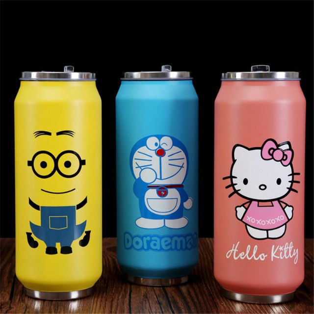 Cartoon Thermos Mug Stainless Steel Vacuum Flasks Thermoses Women Travel Mug Children Termos Thermocup Thermo Cup Termico