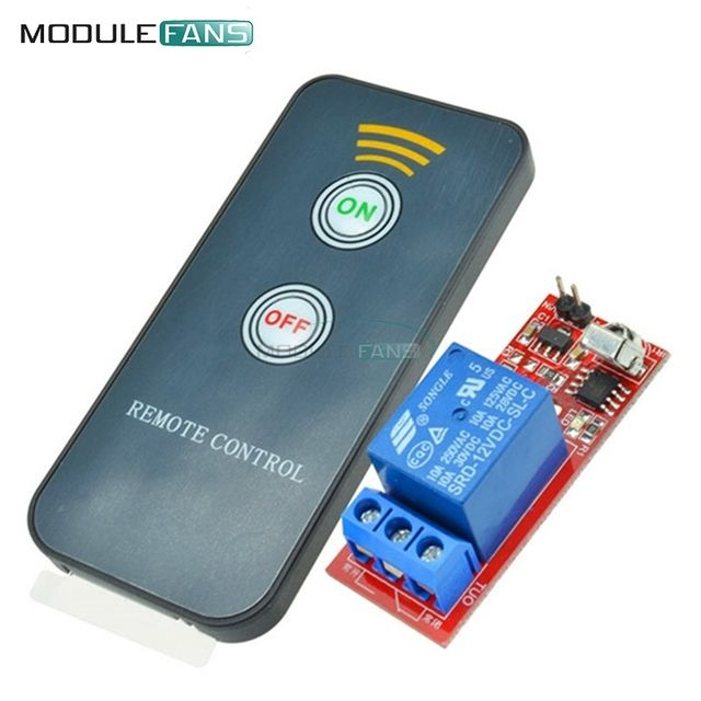 12V 1 Channel Infrared Switch Relay Driving Module Board Remote Controller UPD6122 NED Coding Module