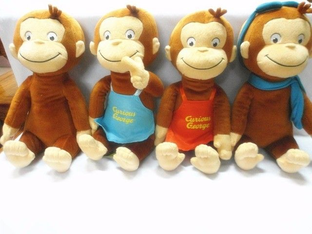 "4Styles 12""30cm Curious George Plush Doll Boots Monkey Plush Stuffed Animal Toys For Boys and Girls"