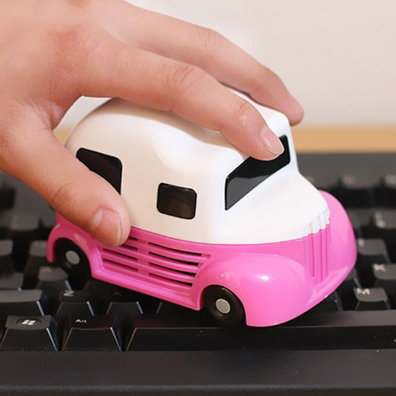 New Fashion Mini Car molding Vacuum Cleaner Dust Collector For Computer PC Desktop Keyboard Cleaning Brush