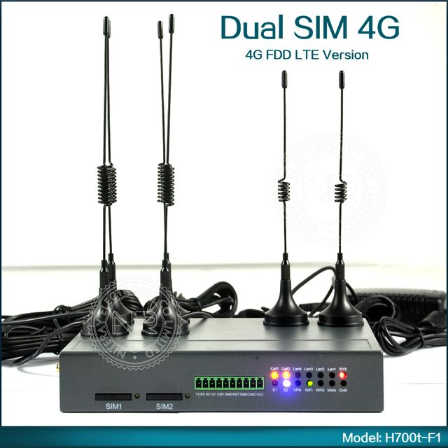 Mobile Dual SIM 4G LTE Router 3G WiFi Router Outdoor With Strong Signal Antenna For Industrial Application