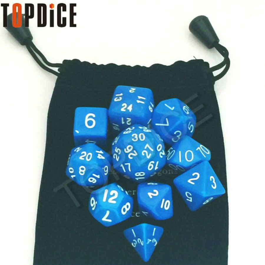 Funny DnD games or table games toy 10pcs/pack Grain Loading Polyhedral Dice Suit Table Irregular Shape Dices Games Accessories