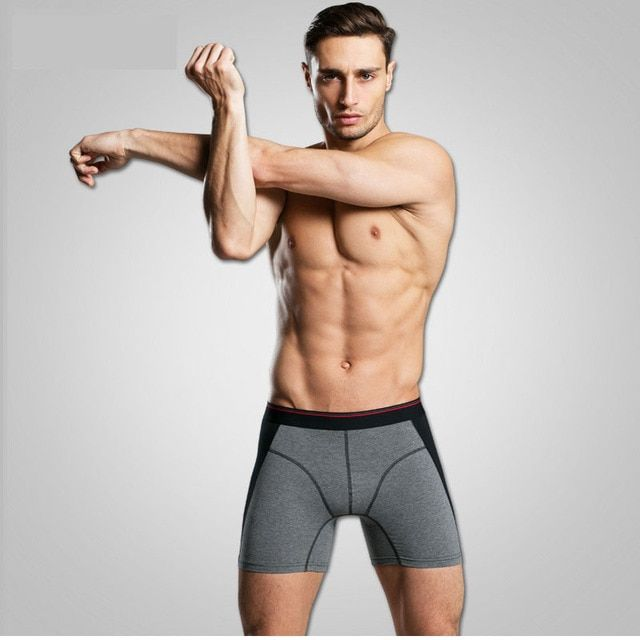 Men Underwear Brand Men's Underwear Pants Male Convex Extended Wear Cotton Pants Leg Head Spot Cuecas Boxers