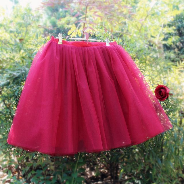 Yuppies Fashion 7 Layers Midi Full Skirts Womens Adult Tutu Tulle Skirt American Apparel Bridesmaids Faldas Saias Femininas Jupe