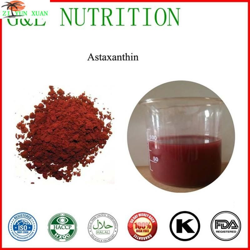 Astaxanthin powder/Natural Haematococcus pluvialis extract powder 2% 1KG FREE SHIPPING