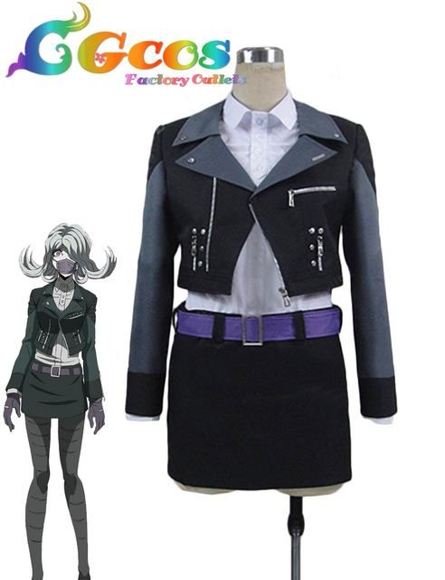 Free Shipping Cosplay Costume Danganronpa 3 The End of Hopes Peak High School Seiko Kimura Uniform Halloween Christmas