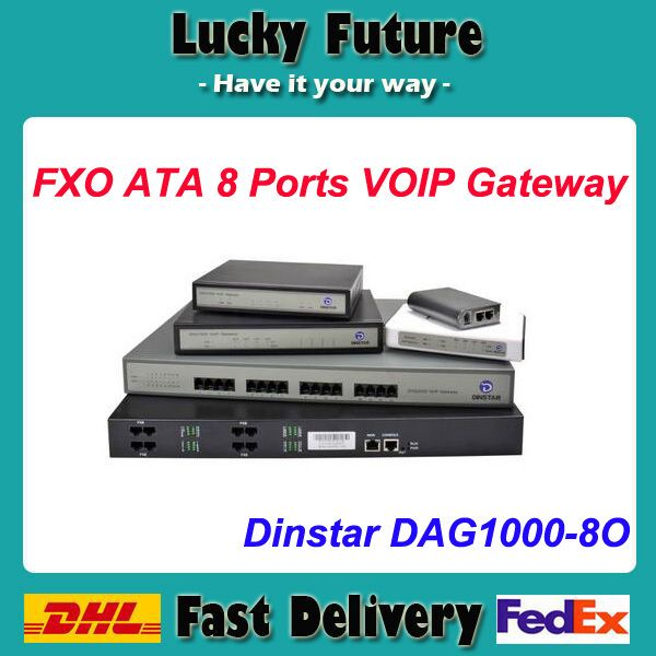 8 Ports FXO ATAs Voip Gateway with FAX DAG1000-8O Dinstar