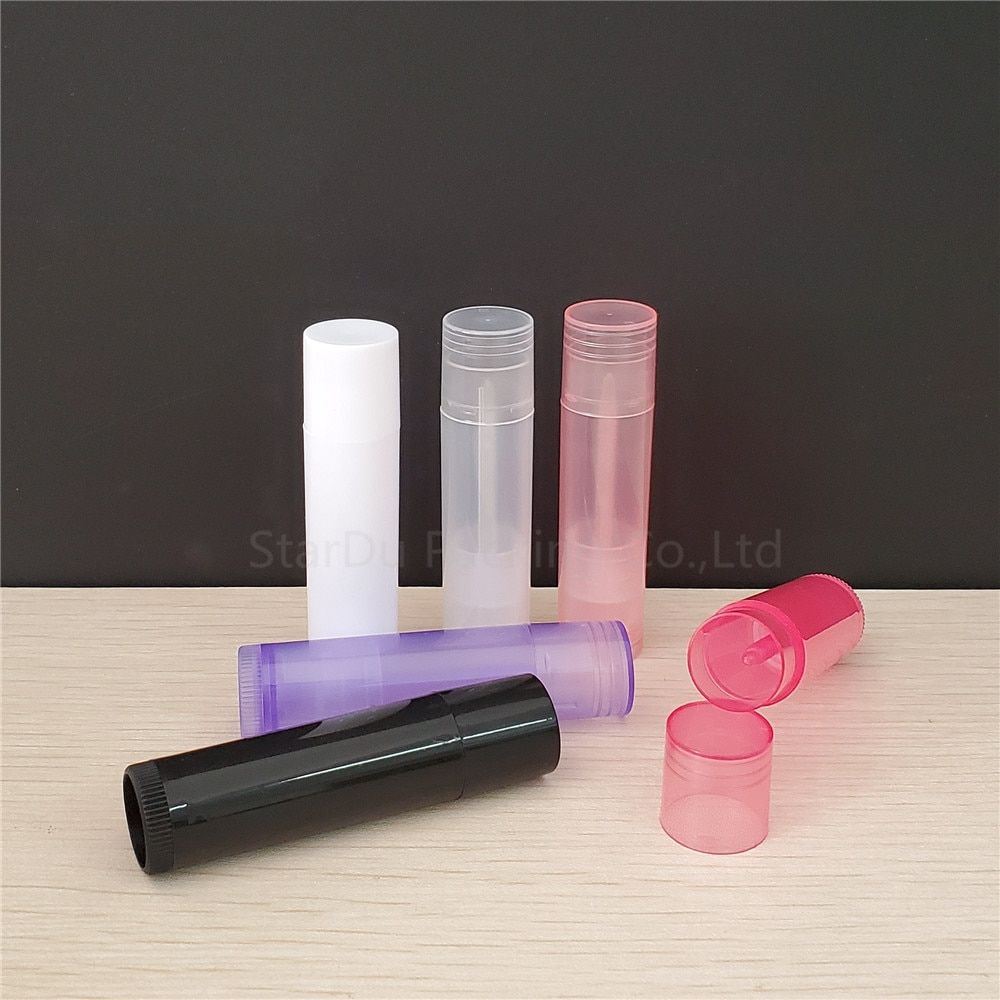 100 PCS Lip Balm Tube empty bottle, 5ml plastic lipbalm tubes, 5g Colorful Lipstick fashion Tubes Free Shipping