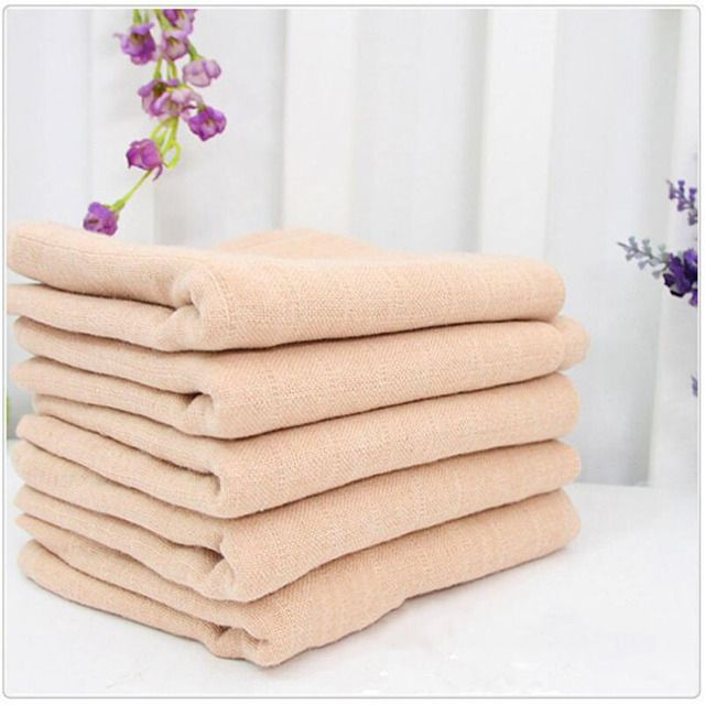 Newborn Modern Cloth Nappies 5 pcs Washable Gauze Diapers inserts Reusable Soft Nappy Changing Organic Cotton insert 50*70CM