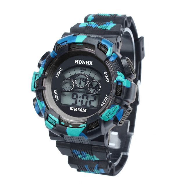New style Children's Watches Cool digital watch Boys LED Alarm Date Sports Wrist Watch male super quality relogio masculino#A