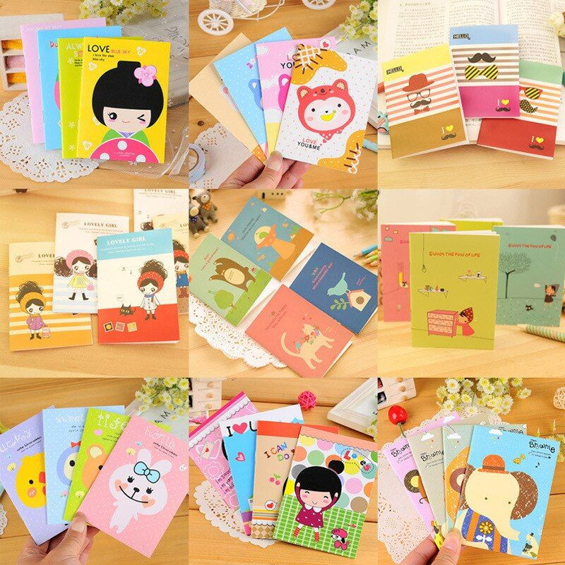 Creative Korean Stationery Cute Student Prize Small Notebook Diary Book Wholesale Notebook Memorandum Pad Gifts
