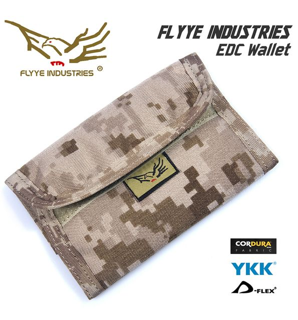 Militech Flyye Army EDC Wallet Mens Travel Purse Credit Cards Holder Cordura Military Wallet Genuine Quality Money Bag Protector