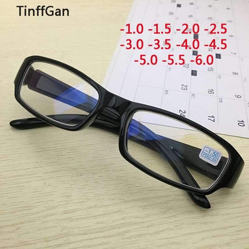 TinffGan finished myopia eyeglasses men women prescription glasses 2019 optical eye glasses for sight -1 -1.5 -2 -2.5 -3 -4 5 -6