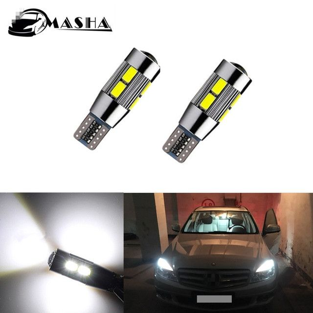 T10 W5W 10 LED Parking Lights Sidelight No Error For Mercedes Benz w202 w220 w204 w203 w210 w124 w211 w222 x204 w164