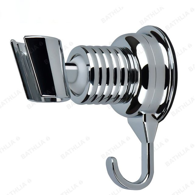 Adjustable Sucker Shower Head Stand Bracket Holder With Towel Hook Wall Mount Suction cup absorb adhesive wall bracket holder