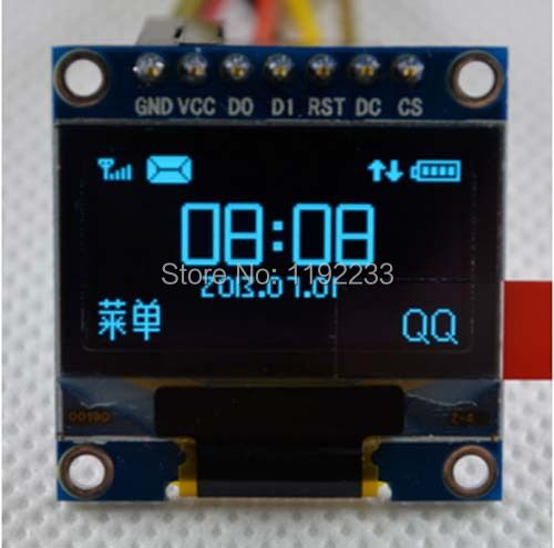 0.96 Inch OLED Display Module 12864 For Arduino IIC/SPI Display Circuit
