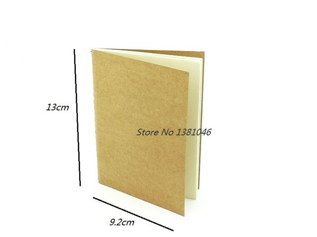 Blank Paper Notebook Sketchbook Plain Cahier Small Pocket Notepad Stationery 9.2 x 13cm