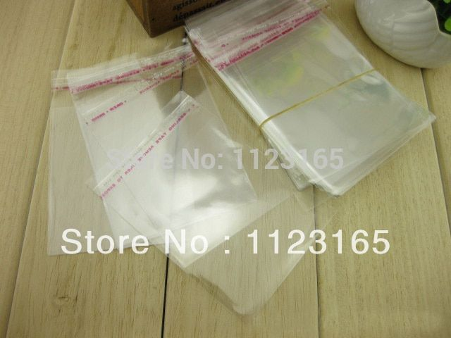 500pcs Plastic bags 11x23cm Clear Self Adhesive Seal OPP poly bag Glue strip resealable pouches Fabric / gift packaging storage