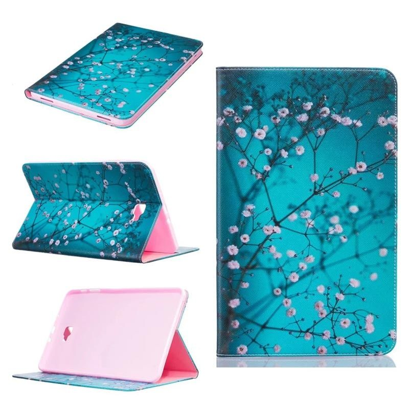 Stylus+film + high quality Fashion painting Book Case Cover For Samsung Galaxy Tab A A6 10.1 2016 T585 T580 T580N funda cases