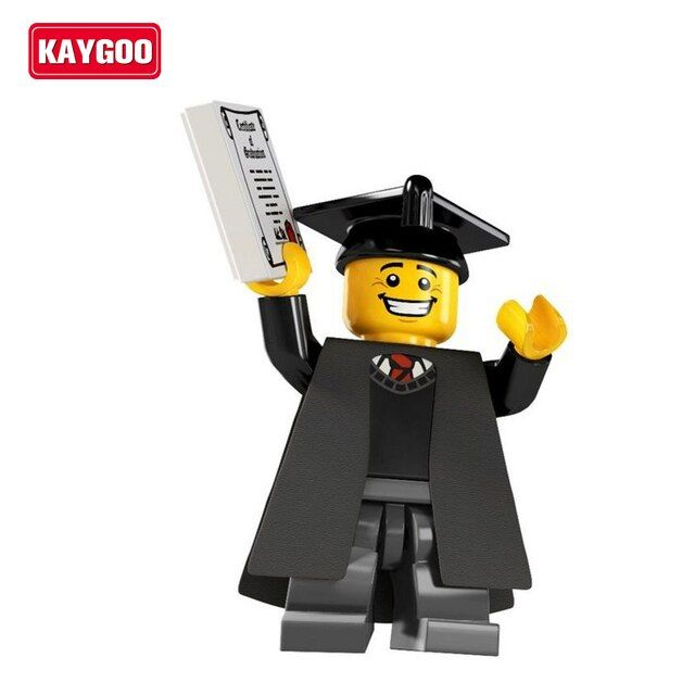 Kaygoo PG930 Graduates Single Sale Limited Edition Imperial Guard Small Figures Education Learning Blocks Bricks Toy Gifts