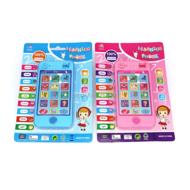 Kids Phone children's educational simulation music mobile toy phone,russian language ABC Alphabet Music Math toy for children