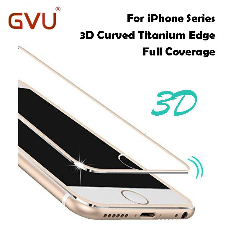 For iPhone 7 Glass 3D Edge Aluminum Alloy Tempered Glass Full Screen Protector For iPhone 5 5S 6 6S Tempered Glass For iPhone 6