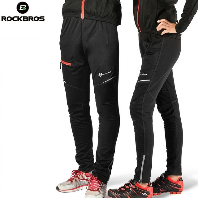 ROCKBROS Men Women Windproof Breathable Cycling Bicycle Pants Bike Sport Pants Riding Running Hiking Fishing Fitness Trousers