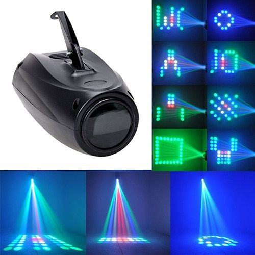 Multicolor Magic Pattern Change 64 LED RGBW EU Plug Lamp Stage Light Projector