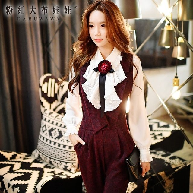 dabuwawa long sleeved shirt 2016 autumn winter turn down collar new fashion agaric flowers ruffled white shirts women wholesale