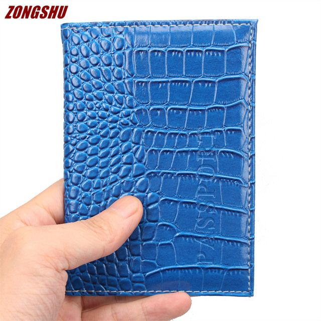 New Arrival Clorful Fashion Passport Cover Business Card Holders Unisex Travel PU Leather wallets crocodile grain passport case