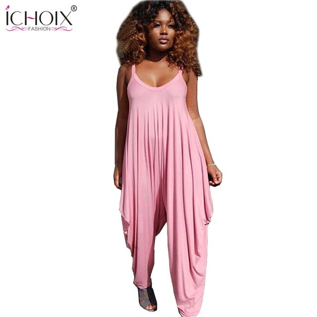 Women jumpsuit strapless purple pink loose rompers for women bodycon playsuits pants long jumpsuits macacao feminino