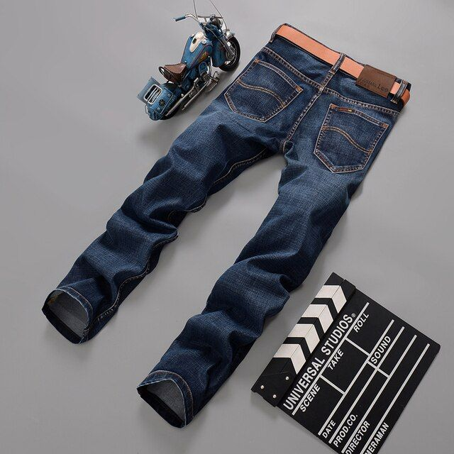 2016 Men Brand Jeans Male Casual Straight Denim Men's Jeans Slim denim overall Wholesale Brand Jeans Biker jeans