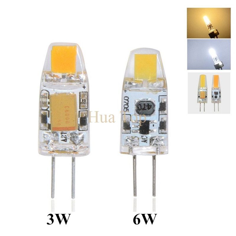 10Pcs Mini G4 COB LED Bulb 3W 6W AC/DC 12V Chandelier Lamp Replace for Halogen Crystal Light Spotlight Warm Cold White Dimmable