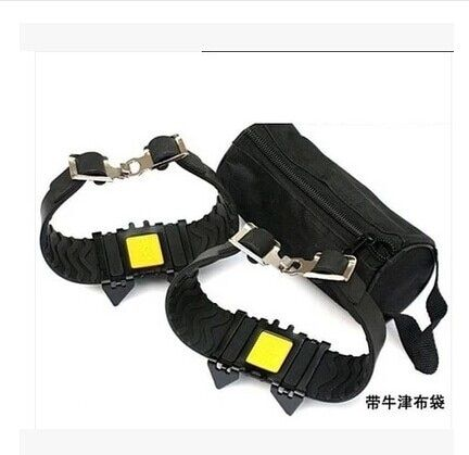 New Ultra Rugged Portable Bundled Tetradentate Simple Crampons Non-slip Shoe Covers 4 small nail crampons Ice Gripper
