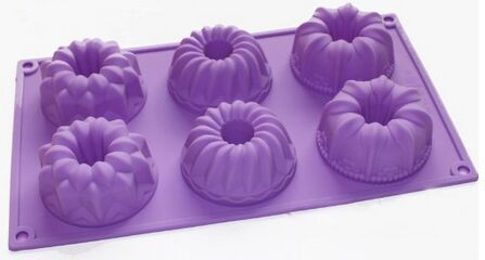 Silicone Mold Bareware Donuts Chocolate Muffin Mini Bundt Cake Pan Jelly Mould
